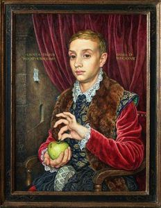 'Boy with Apple', by Michael Taylor commissioned for the Grand Budapest Hotel