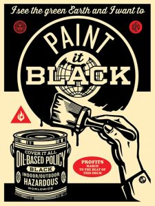 """Paint It Black (Brush)"" Art Print by Shepard Fairey (Onsale Info)"