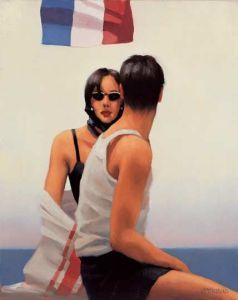 Jack Vettriano Riviera Retro Oil on canvas 20 x 16 inches