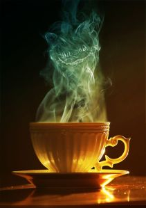 The cheshire cat in a cup