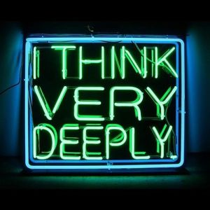 'You're deep' Neon, 2013 by artist Patrick Martinez